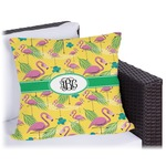 Pink Flamingo Outdoor Pillow (Personalized)