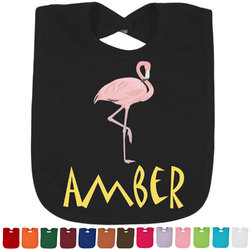 Pink Flamingo Bib - Select Color (Personalized)