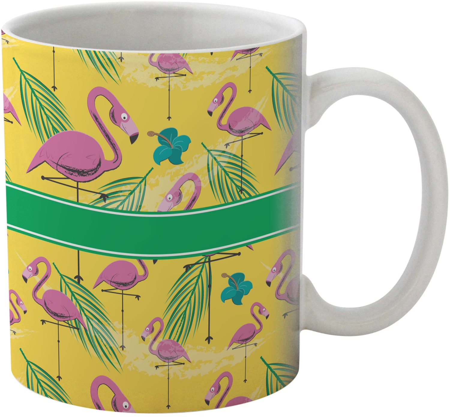 Pink Flamingo Personalized Coffee Mug
