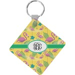 Pink Flamingo Diamond Key Chain (Personalized)