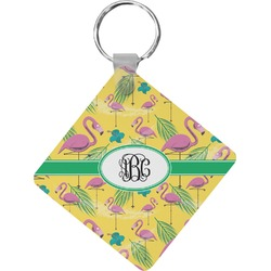 Pink Flamingo Diamond Key Chain (Personalized)