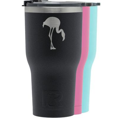 Pink Flamingo RTIC Tumbler - 30 oz (Personalized)