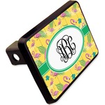 """Pink Flamingo Rectangular Trailer Hitch Cover - 2"""" (Personalized)"""