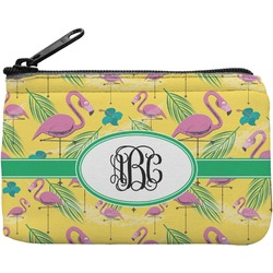 Pink Flamingo Rectangular Coin Purse (Personalized)