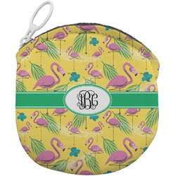 Pink Flamingo Round Coin Purse (Personalized)