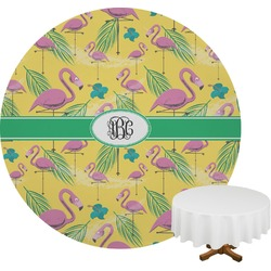 Pink Flamingo Round Tablecloth (Personalized)