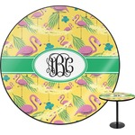 Pink Flamingo Round Table Top (Personalized)