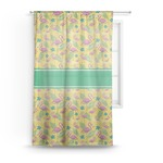 Pink Flamingo Sheer Curtains (Personalized)