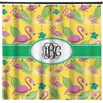 Pink Flamingo Shower Curtain (Personalized)