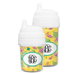 Pink Flamingo Sippy Cup (Personalized)