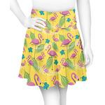 Pink Flamingo Skater Skirt (Personalized)
