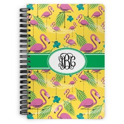 Pink Flamingo Spiral Bound Notebook (Personalized)