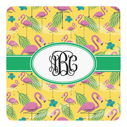 Pink Flamingo Square Decal - Custom Size (Personalized)