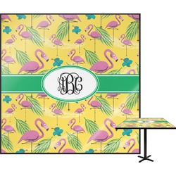 "Pink Flamingo Square Table Top - 30"" (Personalized)"