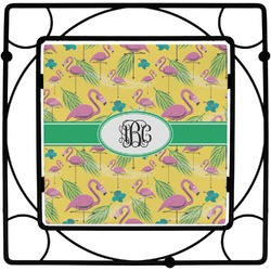 Pink Flamingo Square Trivet (Personalized)