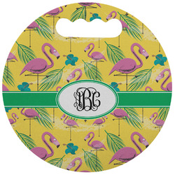 Pink Flamingo Stadium Cushion (Round) (Personalized)
