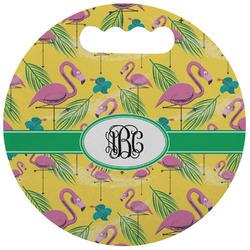 Pink Flamingo Stadium Cushion (Round) (Personalized)