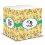 Pink Flamingo Sticky Note Cube (Personalized)