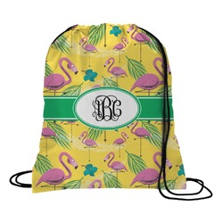 Pink Flamingo Drawstring Backpack (Personalized)