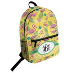 Pink Flamingo Student Backpack (Personalized)