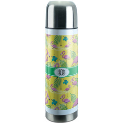 Pink Flamingo Stainless Steel Thermos (Personalized)