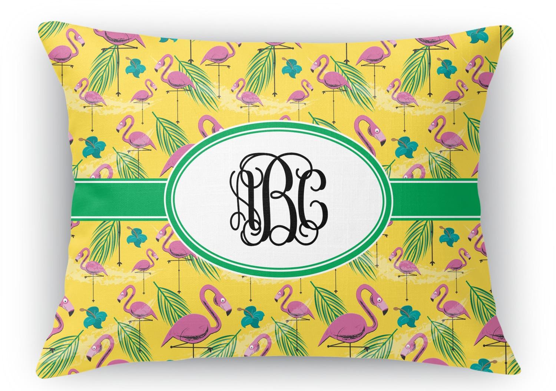 Throw Pillows 12 X 12 : Pink Flamingo Rectangular Throw Pillow - 12