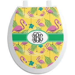Pink Flamingo Toilet Seat Decal (Personalized)