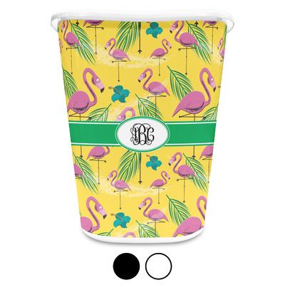 Pink Flamingo Waste Basket (Personalized)