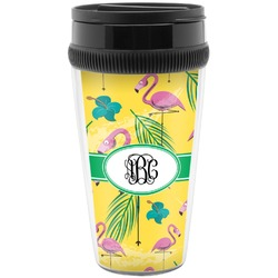 Pink Flamingo Travel Mug (Personalized)