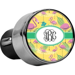 Pink Flamingo USB Car Charger (Personalized)