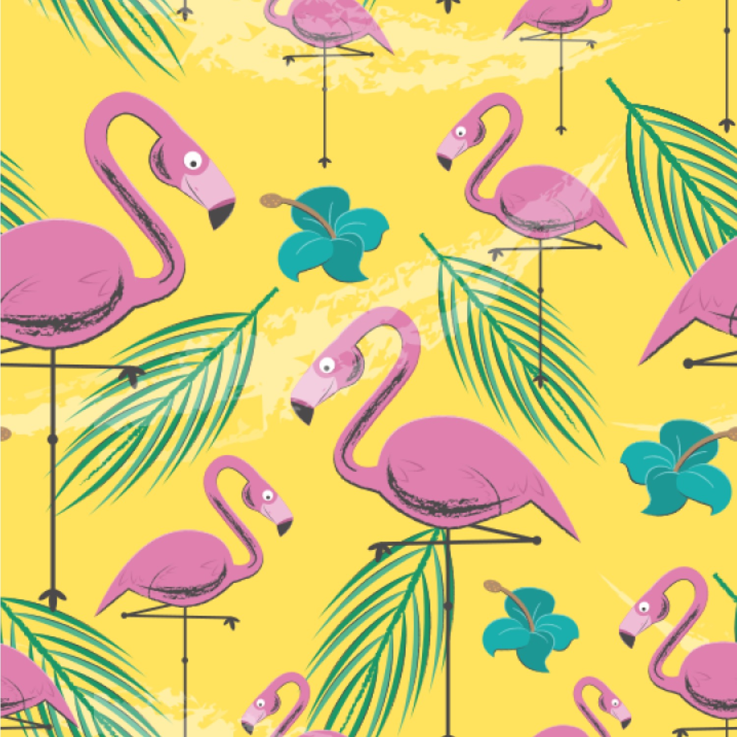 Pink Flamingo Wallpaper Surface Covering