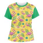 Pink Flamingo Women's Crew T-Shirt (Personalized)