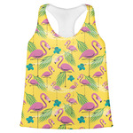Pink Flamingo Womens Racerback Tank Top (Personalized)