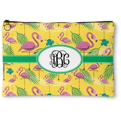 Pink Flamingo Zipper Pouch (Personalized)