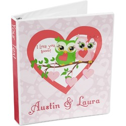 Valentine Owls 3-Ring Binder (Personalized)