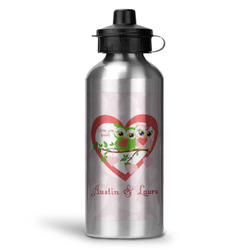 Valentine Owls Water Bottle - Aluminum - 20 oz (Personalized)