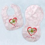Valentine Owls Baby Bib & Burp Set w/ Couple's Names