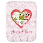 Valentine Owls Baby Swaddling Blanket (Personalized)