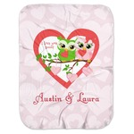 Valentine Owls Baby Swaddling Blanket (Personalized)