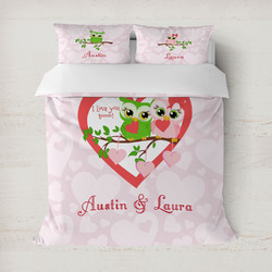 Valentine Owls Duvet Covers (Personalized)