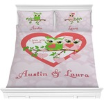 Valentine Owls Comforter Set (Personalized)