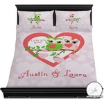 Valentine Owls Duvet Cover Set (Personalized)