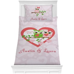 Valentine Owls Comforter Set - Twin (Personalized)