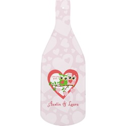 Valentine Owls Bottle Shaped Cutting Board (Personalized)