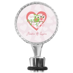 Valentine Owls Wine Bottle Stopper (Personalized)