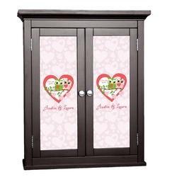 Valentine Owls Cabinet Decal - XLarge (Personalized)