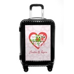 Valentine Owls Carry On Hard Shell Suitcase (Personalized)