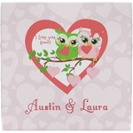 Valentine Owls Ceramic Tile Hot Pad (Personalized)
