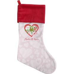 Valentine Owls Christmas Stocking (Personalized)