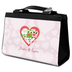 Valentine Owls Classic Tote Purse w/ Leather Trim (Personalized)